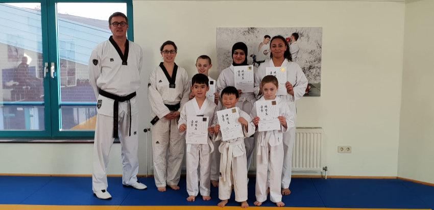Erste Taekwondo-Prüfung beim SV Eidelstedt