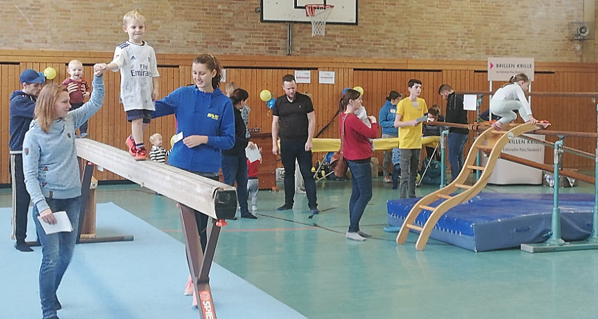Viel Spaß an der Bewegung beim Kinderturn-Sonntag des SVE