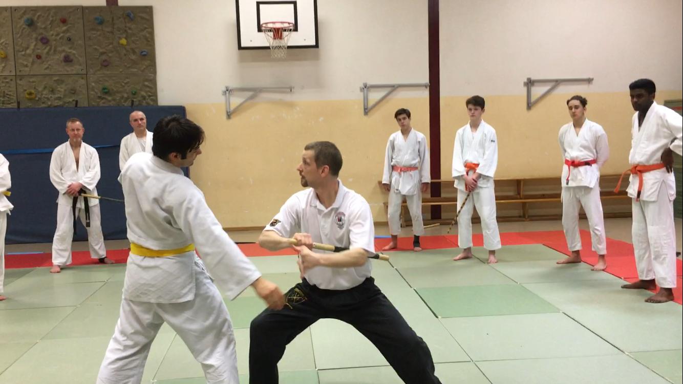 Waffensondertraining beim Ju-Jutsu