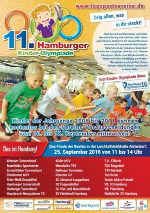 11. Kinder-Olympiade am Sonntag in Eidelstedt