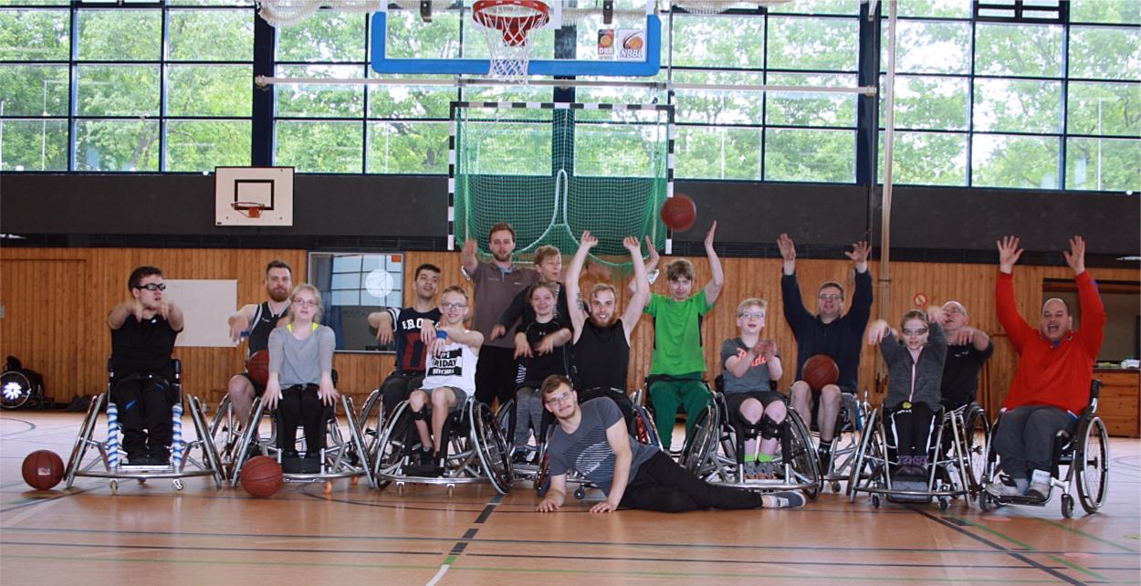 Rollstuhl-Basketballer absolvieren Try-Out