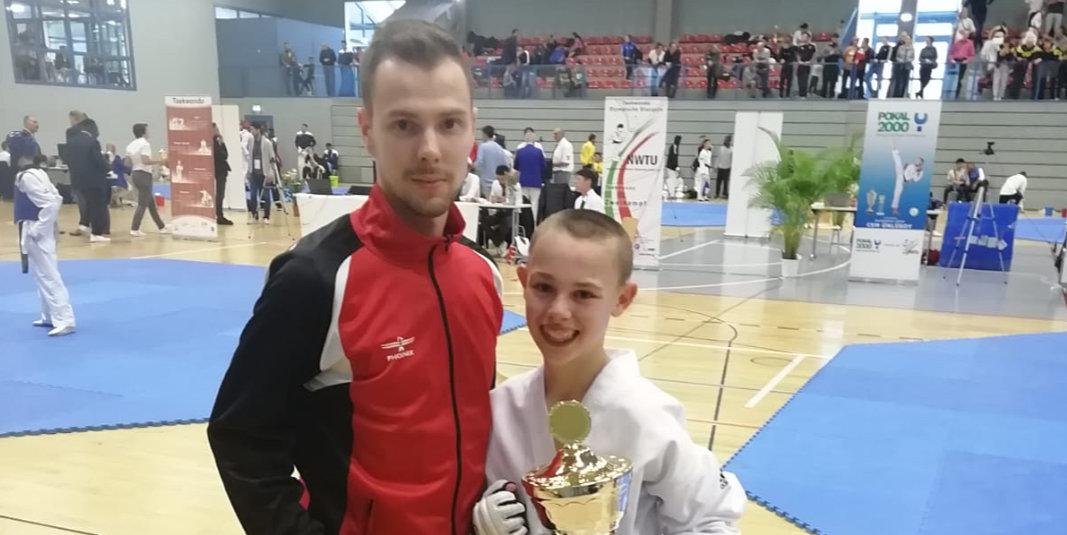 Erster Sieg im Taekwondo