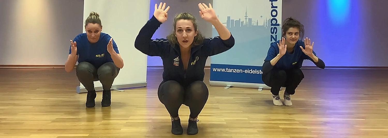 Aufwärmübungen mit unseren Tanz-Trainerinnen