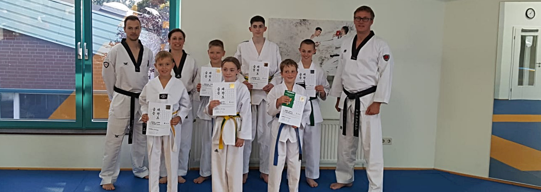 Gürtelprüfung der Taekwondo-Sparte